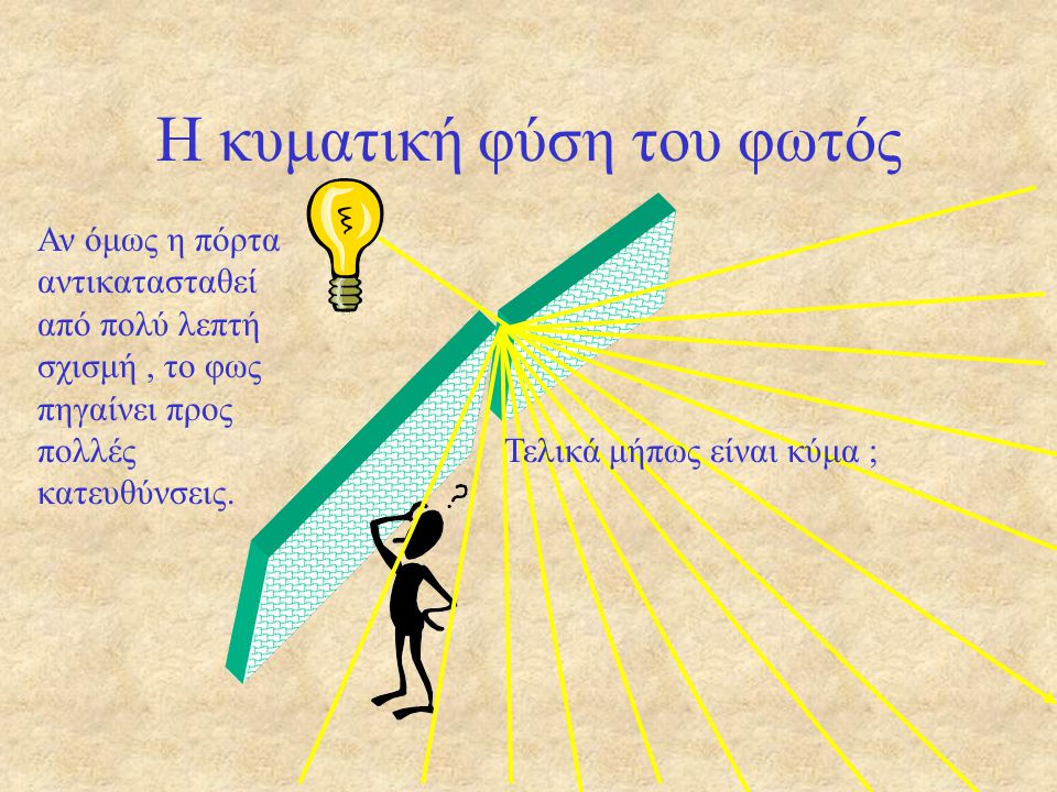 Η κυματική φύση του φωτός