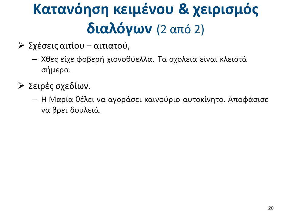 Πραγματολογική ανάλυση (pragmatic analysis) (1 από 2)