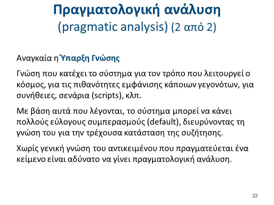 Παραγωγή φυσικής γλώσσας (1 από 3)