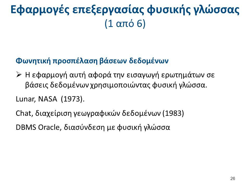 Εφαρμογές επεξεργασίας φυσικής γλώσσας (2 από 6)