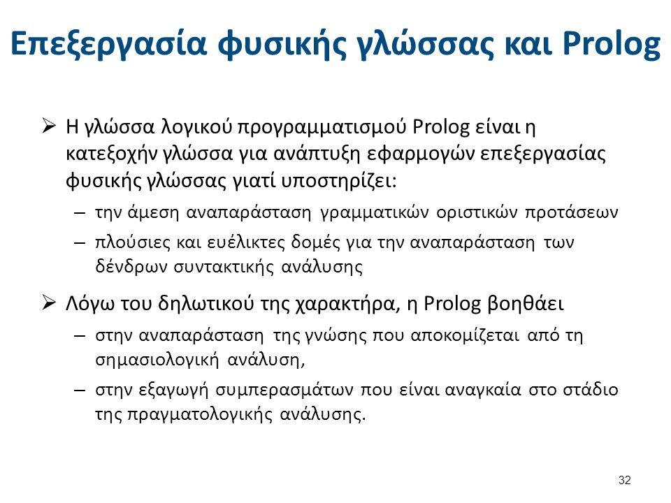 Γραμματική οριστικών προτάσεων στην Prolog (1 από 6)