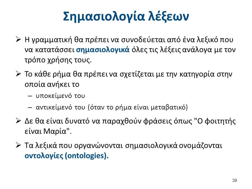 Σημασιολογική γραμματική (1 από 2)