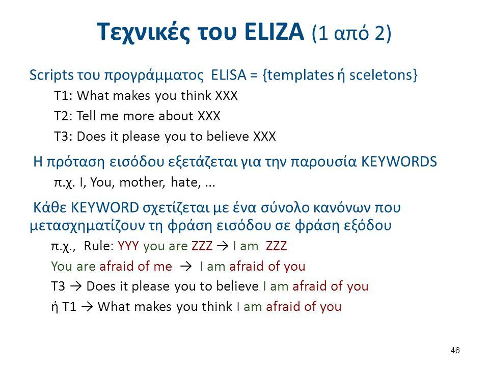 Τεχνικές του ΕLΙΖΑ (2 από 2)