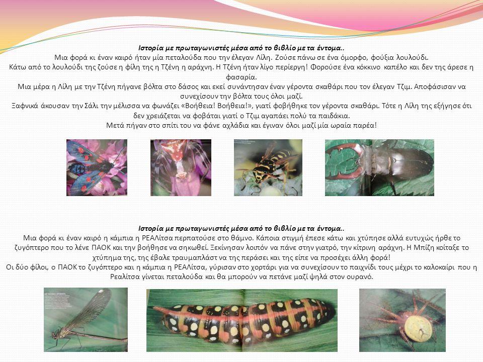 Ιστορία με πρωταγωνιστές μέσα από το βιβλίο με τα έντομα..