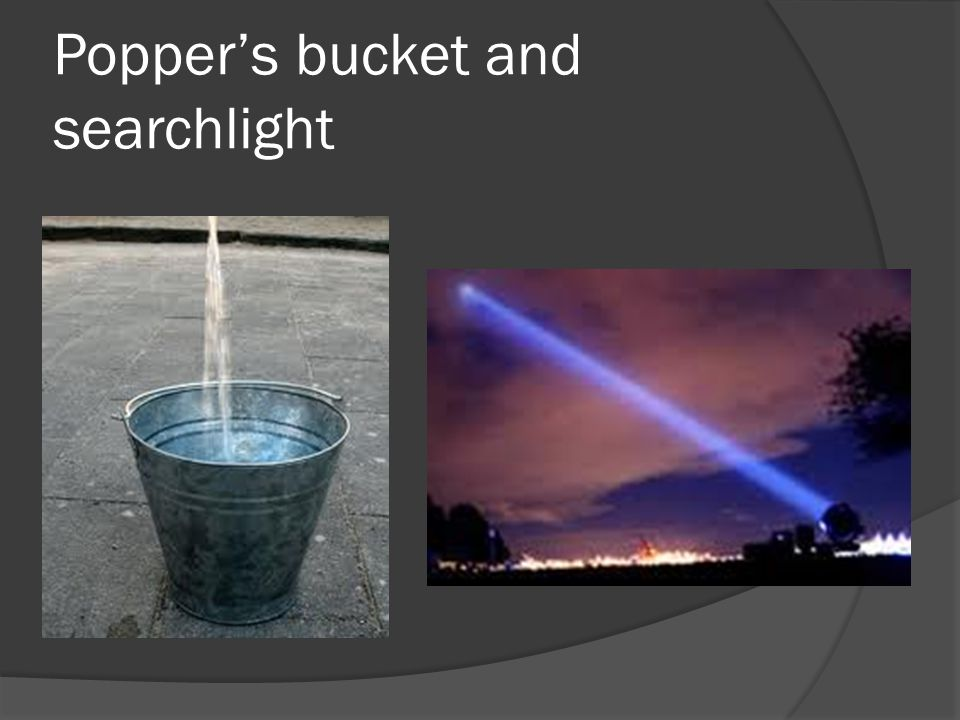 Popper's bucket and searchlight