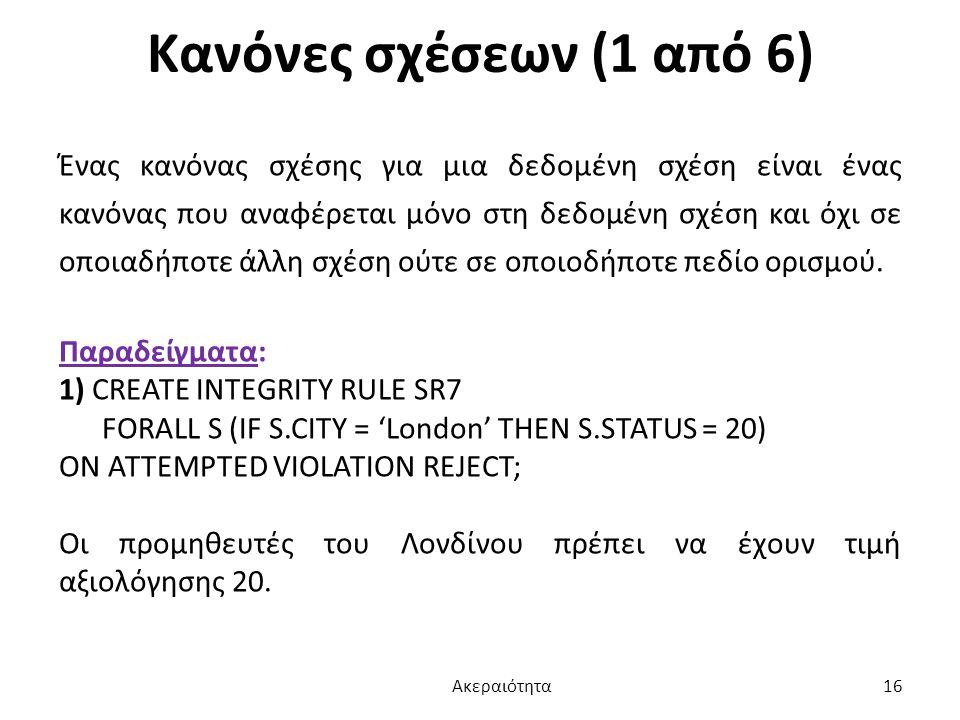 Κανόνες σχέσεων (1 από 6)
