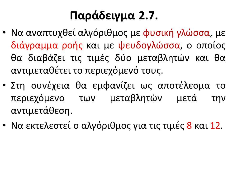 Παράδειγμα 2.7.