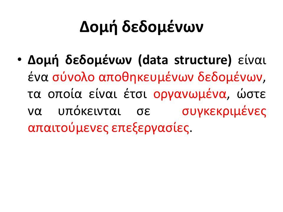 Δομή δεδομένων