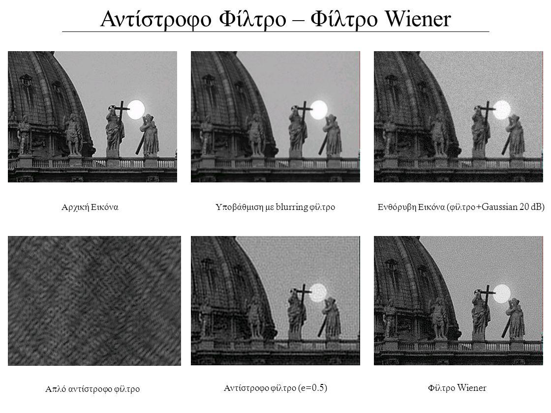 Αντίστροφο Φίλτρο – Φίλτρο Wiener