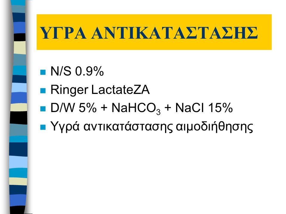 ΥΓΡΑ ΑΝΤΙΚΑΤΑΣΤΑΣΗΣ N/S 0.9% Ringer LactateZA