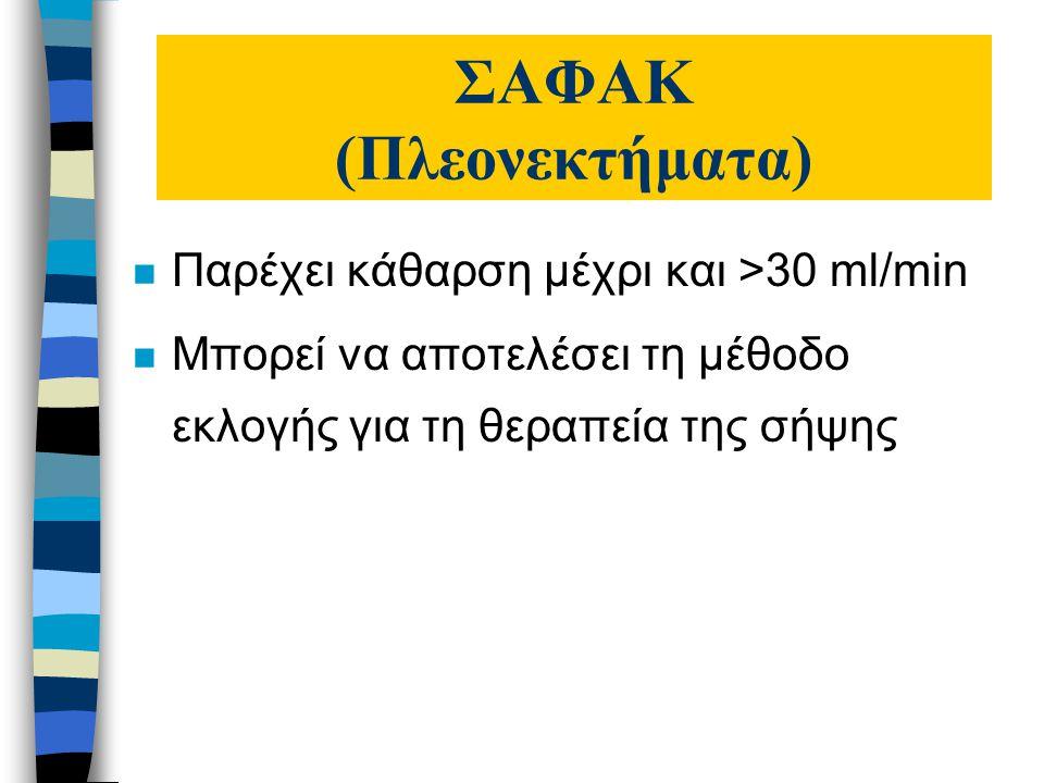 ΣΑΦΑΚ (Πλεονεκτήματα)