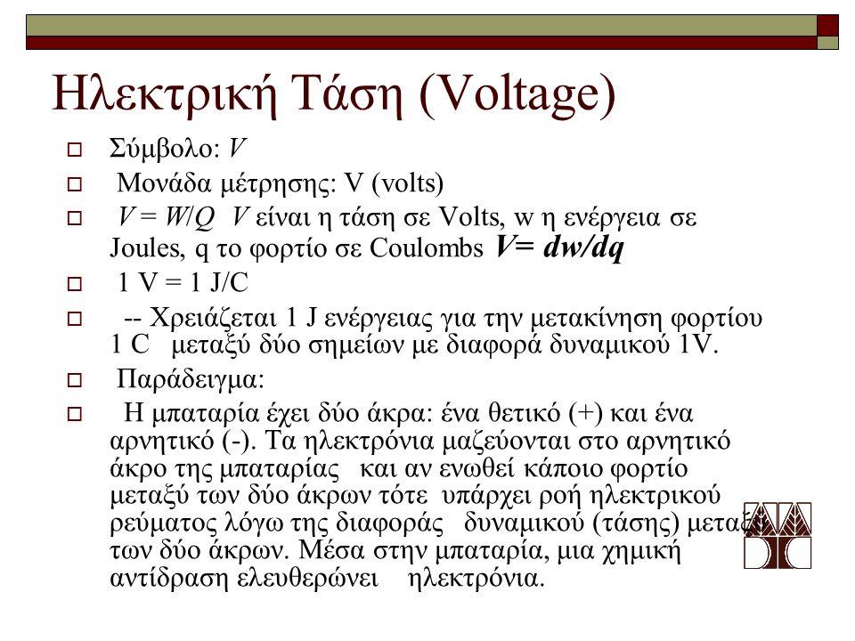 Ηλεκτρική Τάση (Voltage)