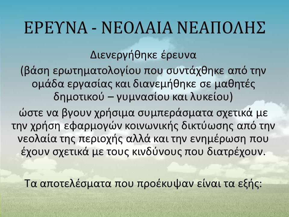 ΕΡΕΥΝΑ - ΝΕΟΛΑΙΑ ΝΕΑΠΟΛΗΣ