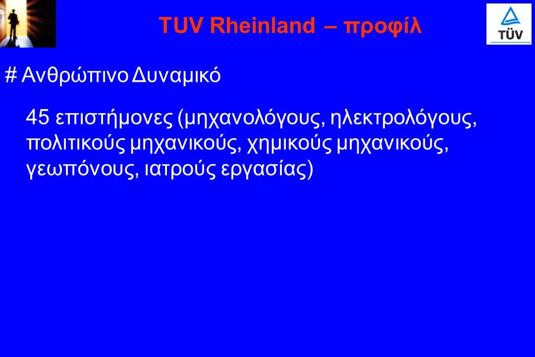TUV Rheinland – προφίλ # Ανθρώπινο Δυναμικό