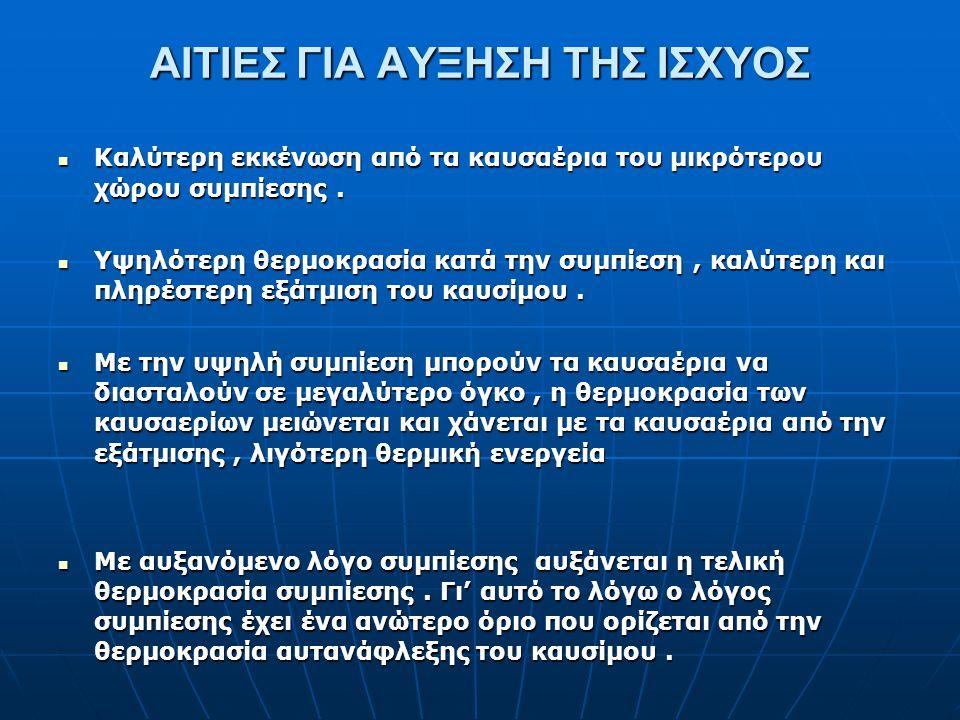 ΑΙΤΙΕΣ ΓΙΑ ΑΥΞΗΣΗ ΤΗΣ ΙΣΧΥΟΣ