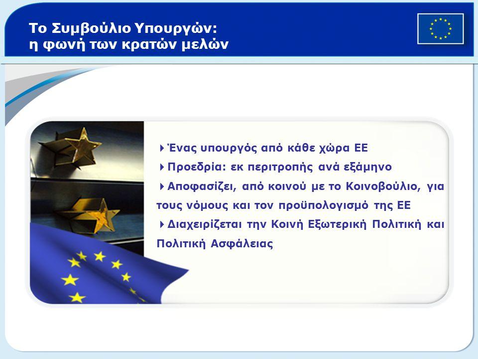 Το Συμβούλιο Υπουργών: η φωνή των κρατών μελών