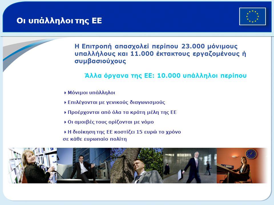 Άλλα όργανα της ΕΕ: 10.000 υπάλληλοι περίπου
