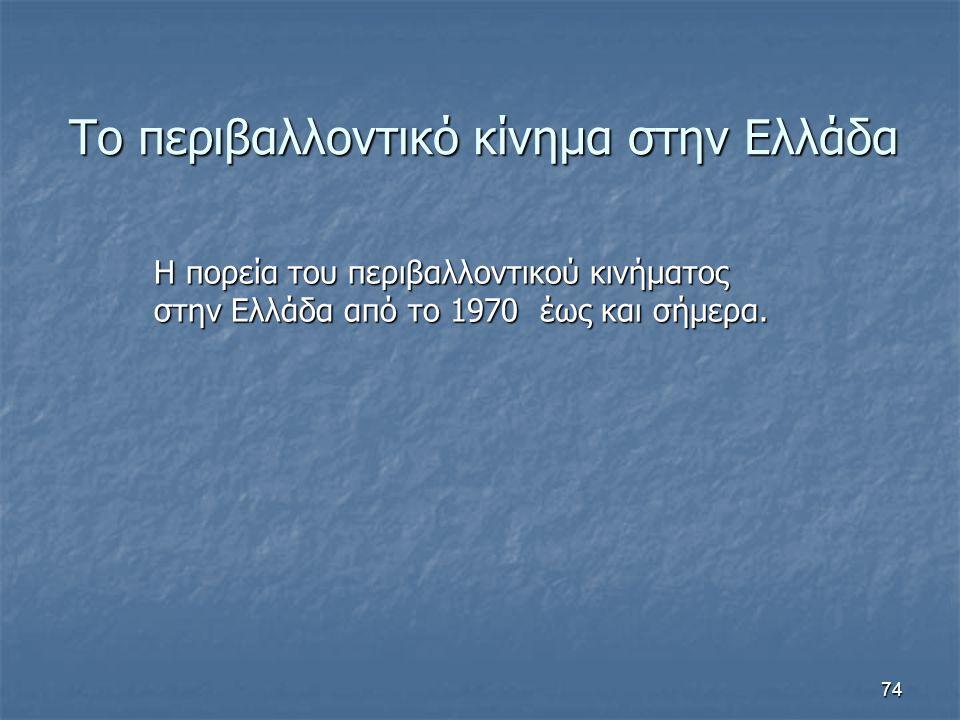 Το περιβαλλοντικό κίνημα στην Ελλάδα