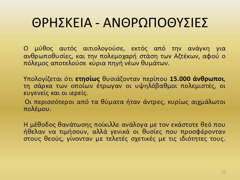 ΘΡΗΣΚΕΙΑ - ΑΝΘΡΩΠΟΘΥΣΙΕΣ