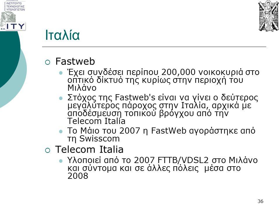 Ιταλία Fastweb Telecom Italia