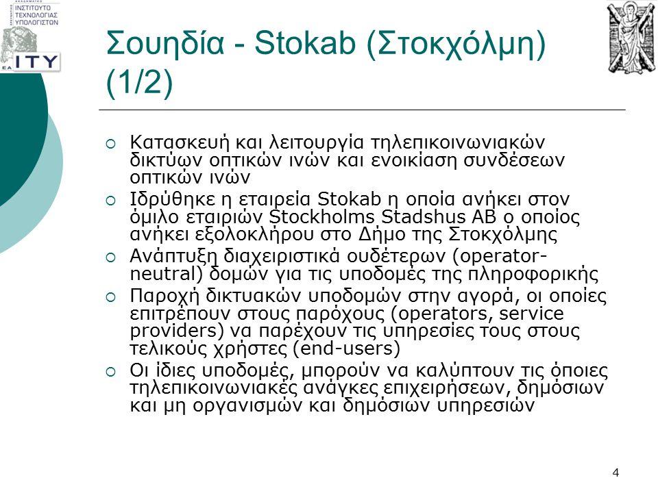 Σουηδία - Stokab (Στοκχόλμη) (1/2)