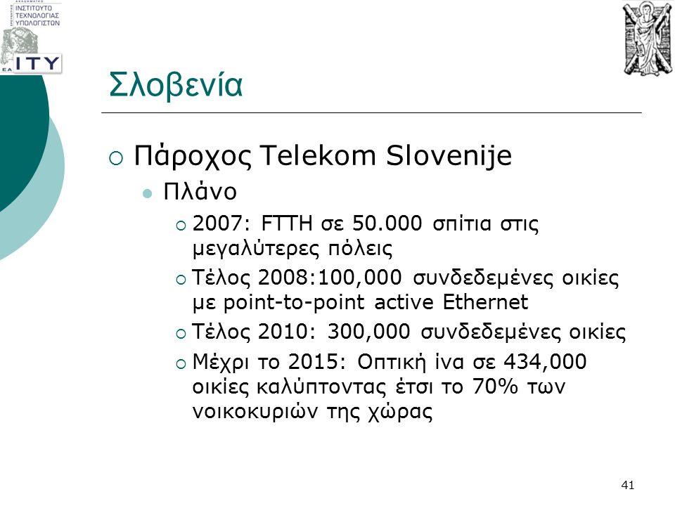 Σλοβενία Πάροχος Telekom Slovenije Πλάνο