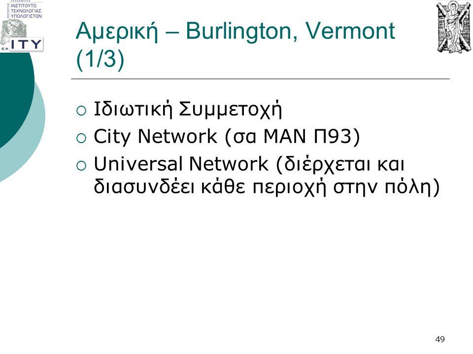 Αμερική – Burlington, Vermont (1/3)