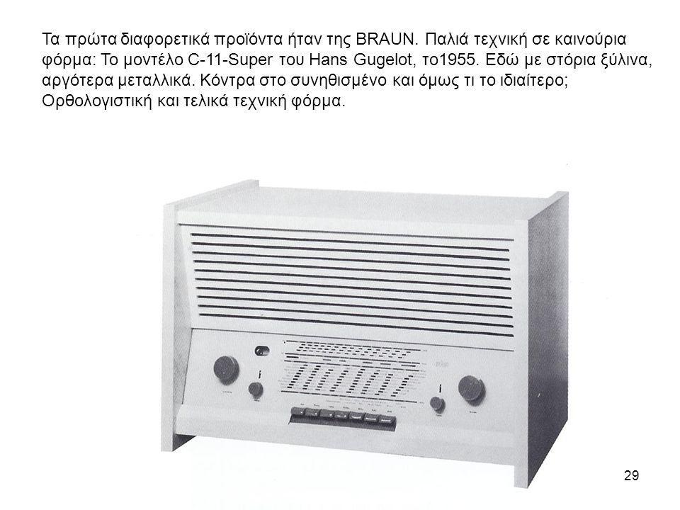 Τα πρώτα διαφορετικά προϊόντα ήταν της BRAUN