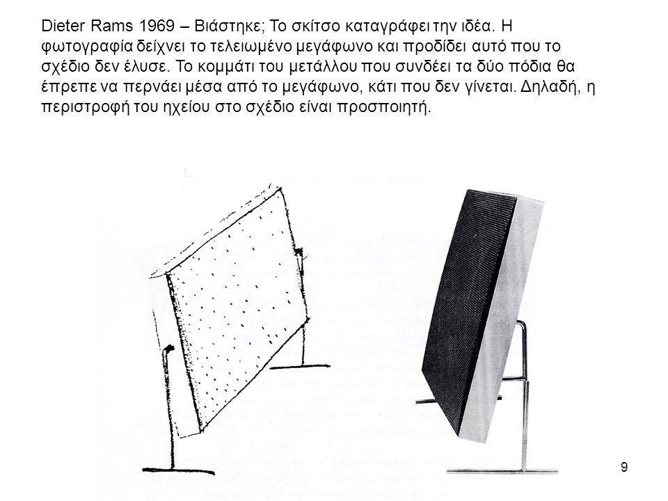 Dieter Rams 1969 – Βιάστηκε; Το σκίτσο καταγράφει την ιδέα
