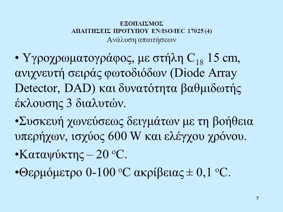 ΕΞΟΠΛΙΣΜΟΣ ΑΠΑΙΤΗΣΕΙΣ ΠΡΟΤΥΠΟΥ EN/ISO/IEC 17025 (4) Ανάλυση απαιτήσεων