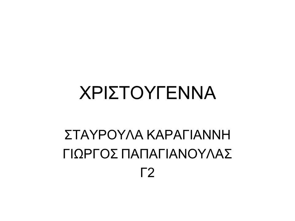 ΣΤΑΥΡΟΥΛΑ ΚΑΡΑΓΙΑΝΝΗ ΓΙΩΡΓΟΣ ΠΑΠΑΓΙΑΝΟΥΛΑΣ Γ2