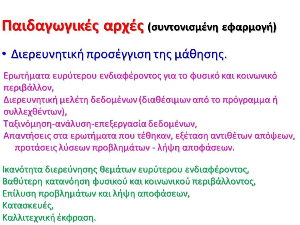 Παιδαγωγικές αρχές (συντονισμένη εφαρμογή)