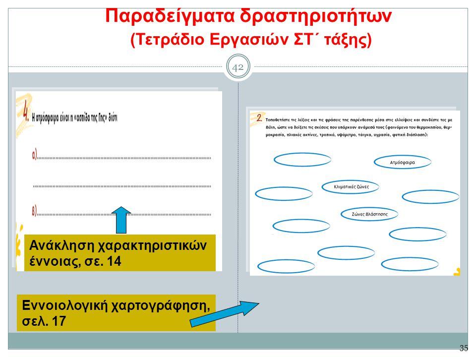Παραδείγματα δραστηριοτήτων (Τετράδιο Εργασιών ΣΤ΄ τάξης)