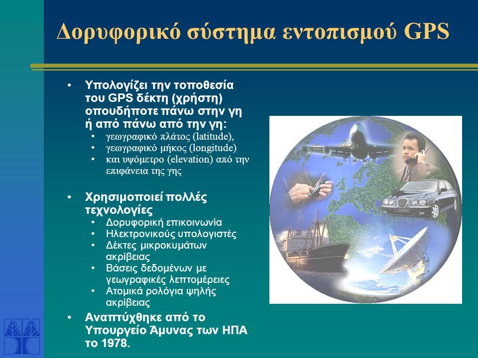 Δορυφορικό σύστημα εντοπισμού GPS