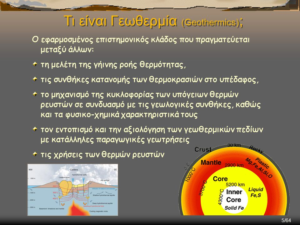 Τι είναι Γεωθερμία (Geothermics);