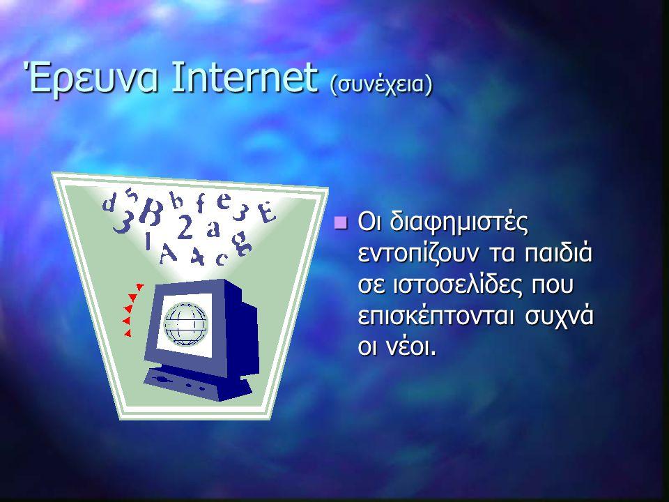 Έρευνα Internet (συνέχεια)