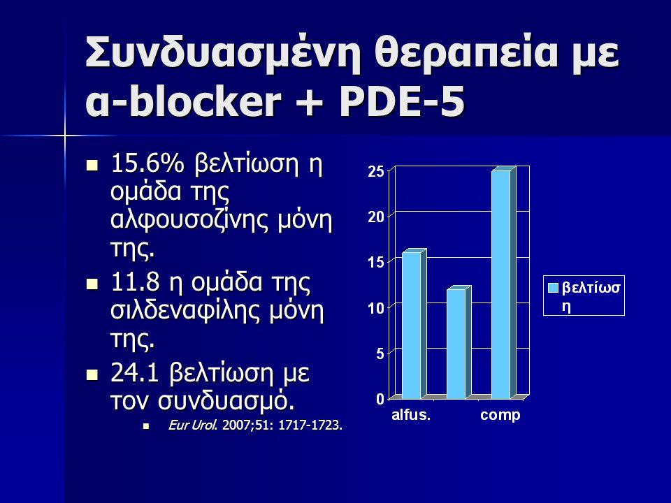 Συνδυασμένη θεραπεία με α-blocker + PDE-5