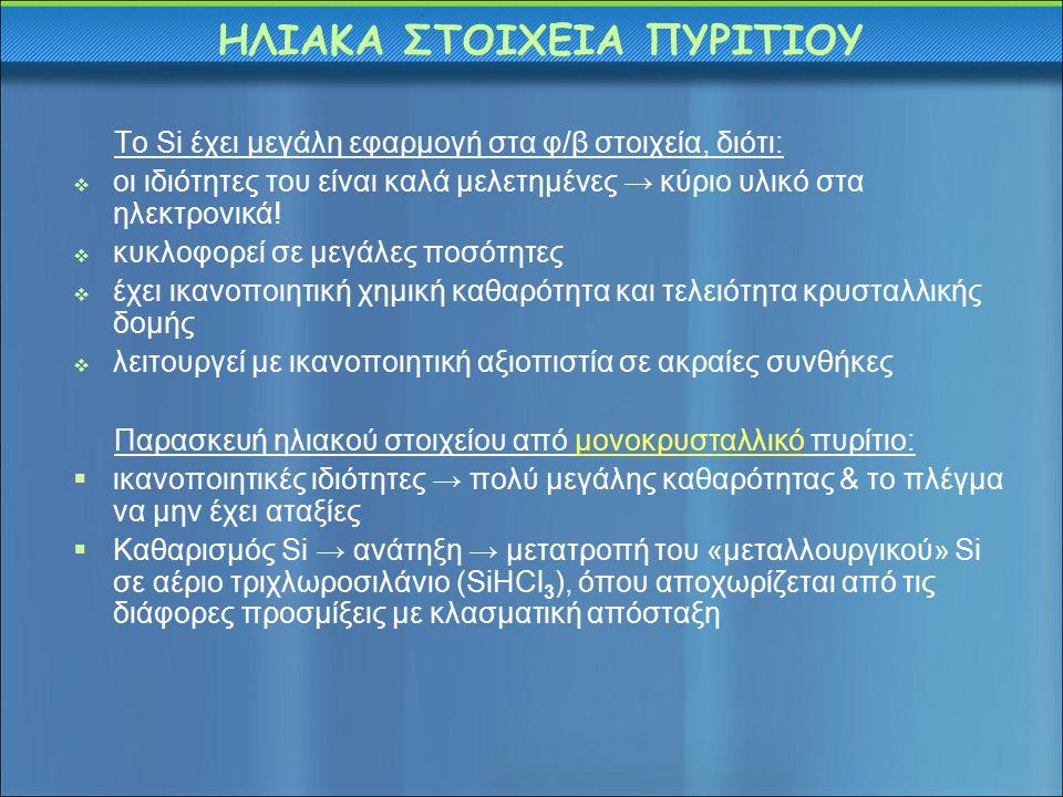 ΗΛΙΑΚΑ ΣΤΟΙΧΕΙΑ ΠΥΡΙΤΙΟΥ