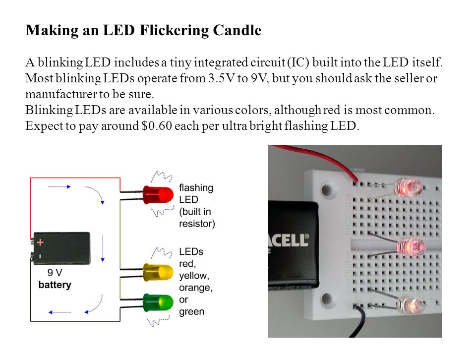 Making an LED Flickering Candle