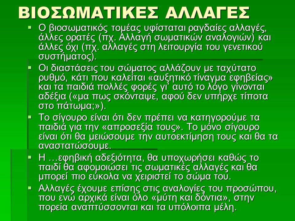 ΒΙΟΣΩΜΑΤΙΚΕΣ ΑΛΛΑΓΕΣ