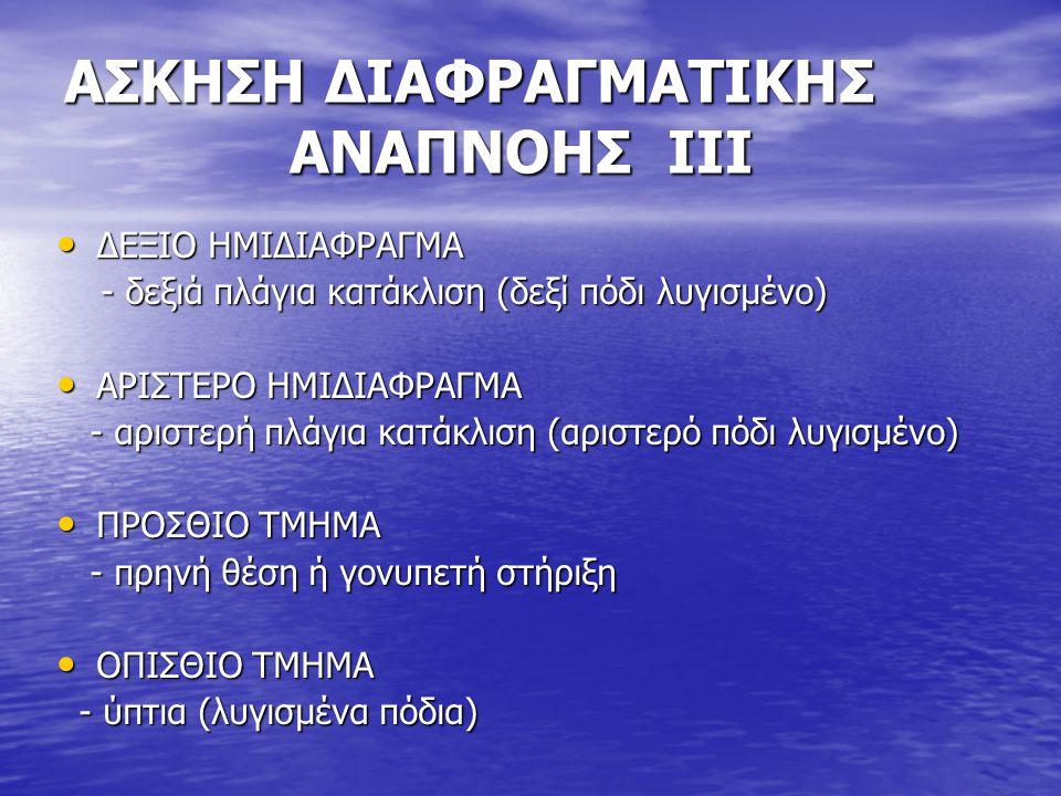 ΑΣΚΗΣΗ ΔΙΑΦΡΑΓΜΑΤΙΚΗΣ ΑΝΑΠΝΟΗΣ ΙII