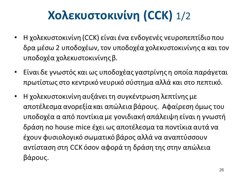 Χολεκυστοκινίνη (CCK) 2/2