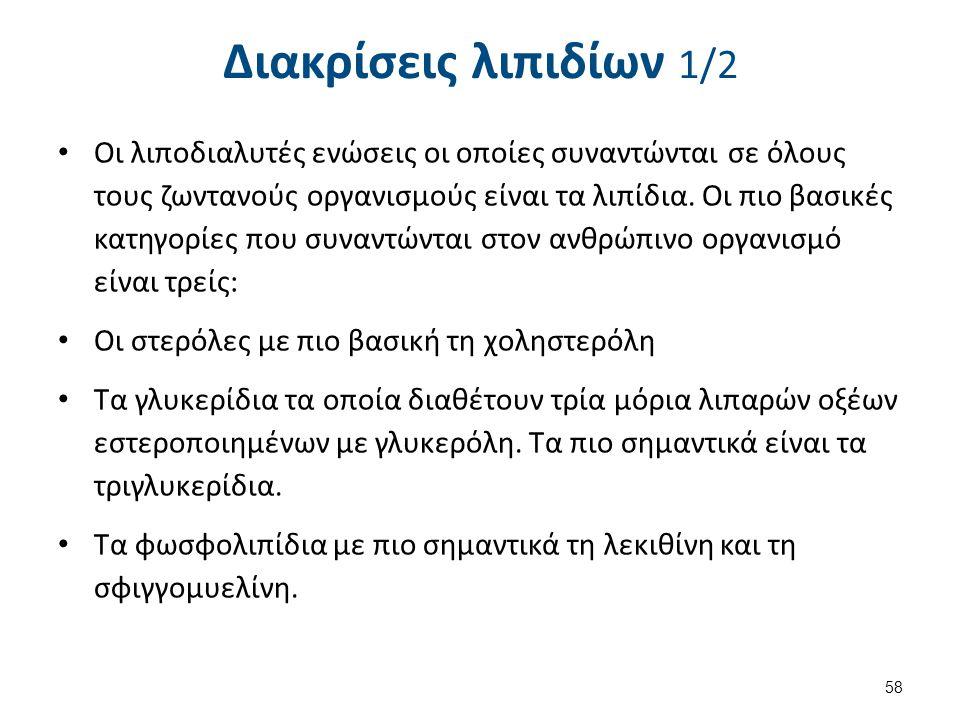 Διακρίσεις λιπιδίων 2/2