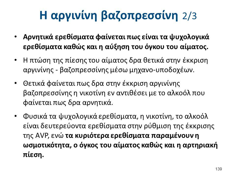 Η αργινίνη βαζοπρεσσίνη 3/3