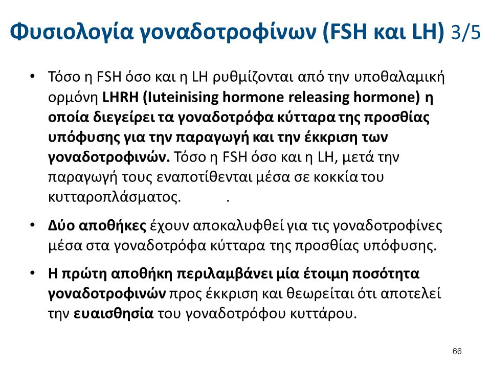 Φυσιολογία γοναδοτροφίνων (FSH και LH) 4/5