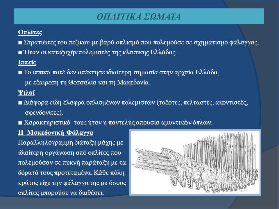 ΟΠΛΙΤΙΚΑ ΣΩΜΑΤΑ