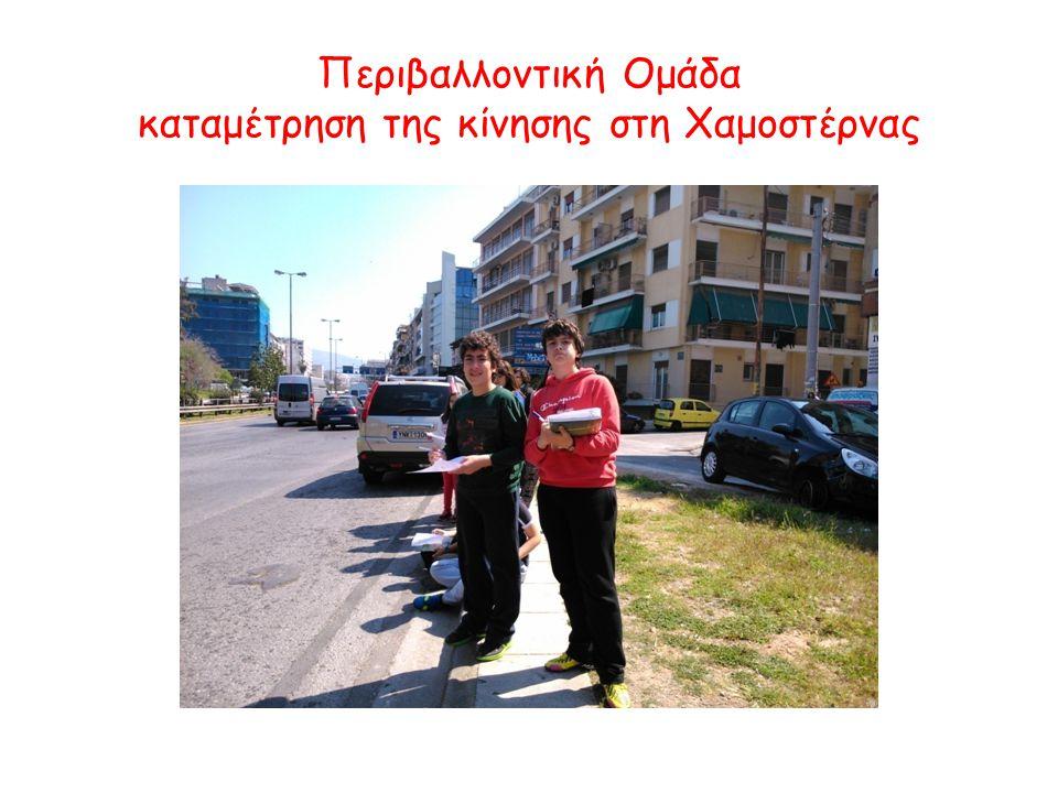 Περιβαλλοντική Ομάδα καταμέτρηση της κίνησης στη Χαμοστέρνας