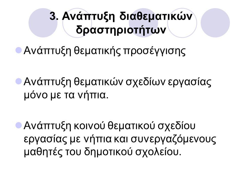 3. Ανάπτυξη διαθεματικών δραστηριοτήτων
