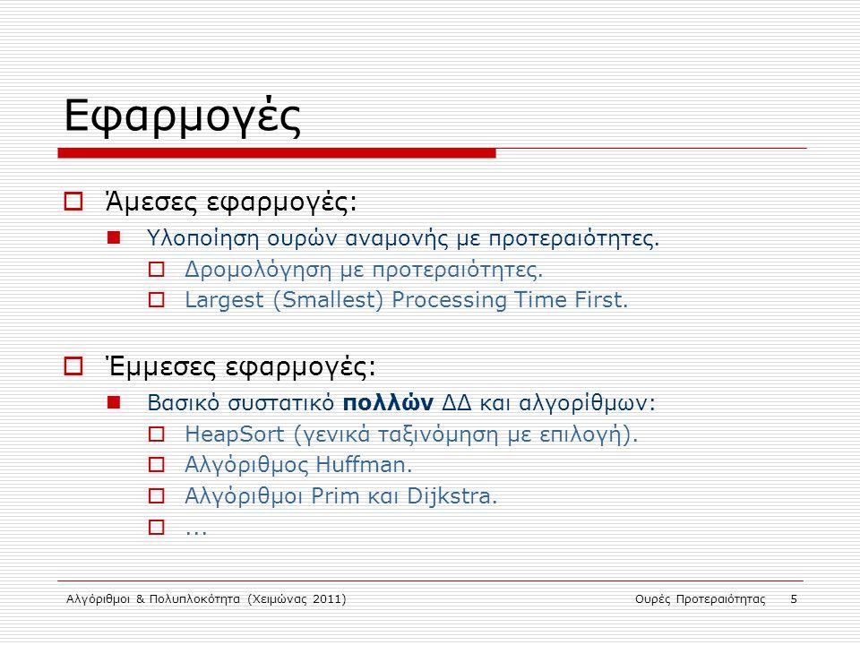 Εφαρμογές Άμεσες εφαρμογές: Έμμεσες εφαρμογές: