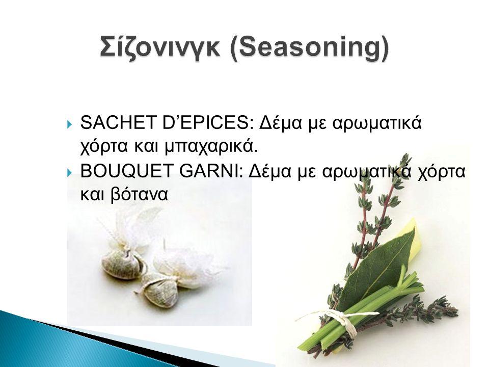 Σίζονινγκ (Seasoning)